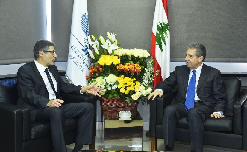 Minister Ghazi Wazni meets a Delegation fom World Bank