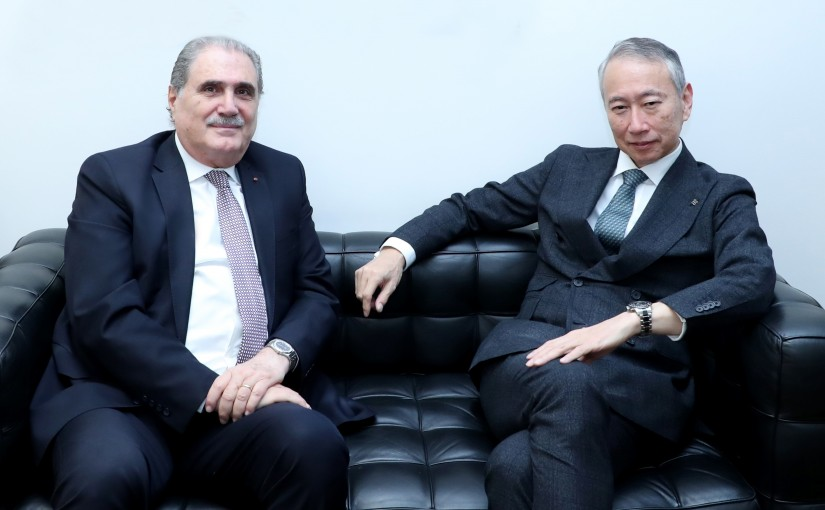 Minister Salim Jereysati meets H.E. Tokumitsu Murakami Ambassador of Japan to Lebanon.