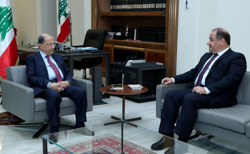 President Michel Aoun meets President of the Economic and Social Council Charles Arbid.