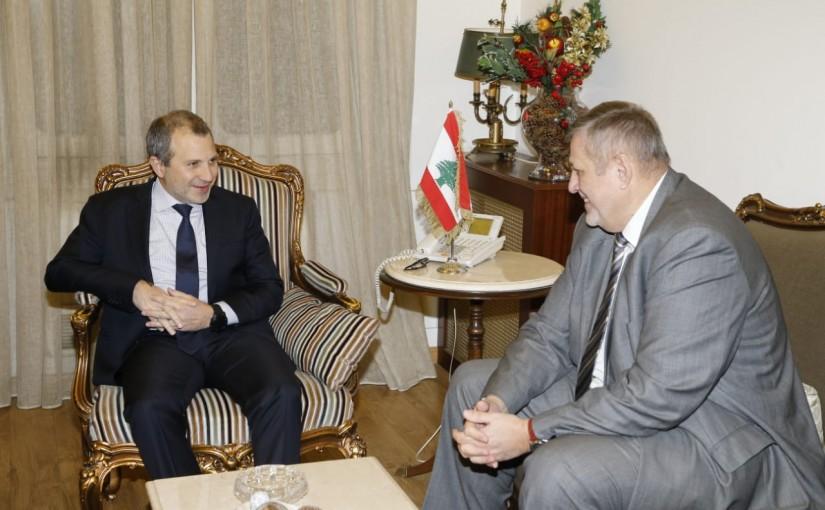 Minister Gebran Bassil meets Mr Jan Kubis