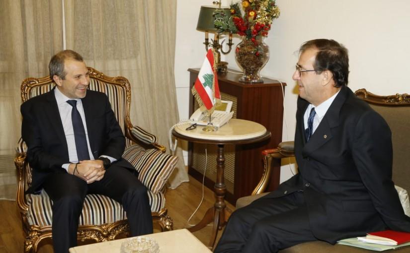Minister Gebran Bassil meets French Ambassador
