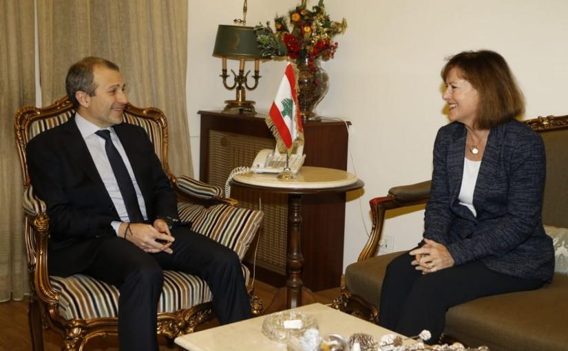 Minister Gebran Bassil meets US Ambassador
