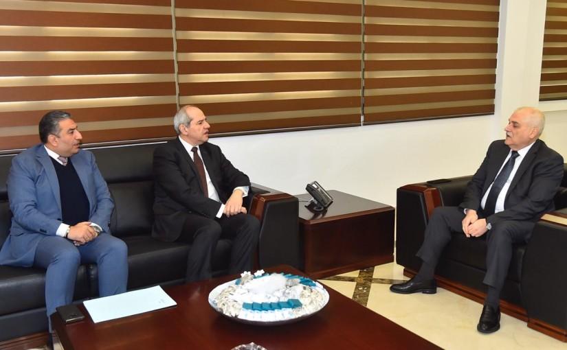 Minister Jamil Jabak meets Mr Melhem Khalaf
