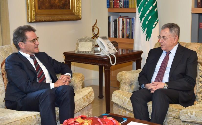 Former Pr Minister Fouad Siniora meets German Ambassador