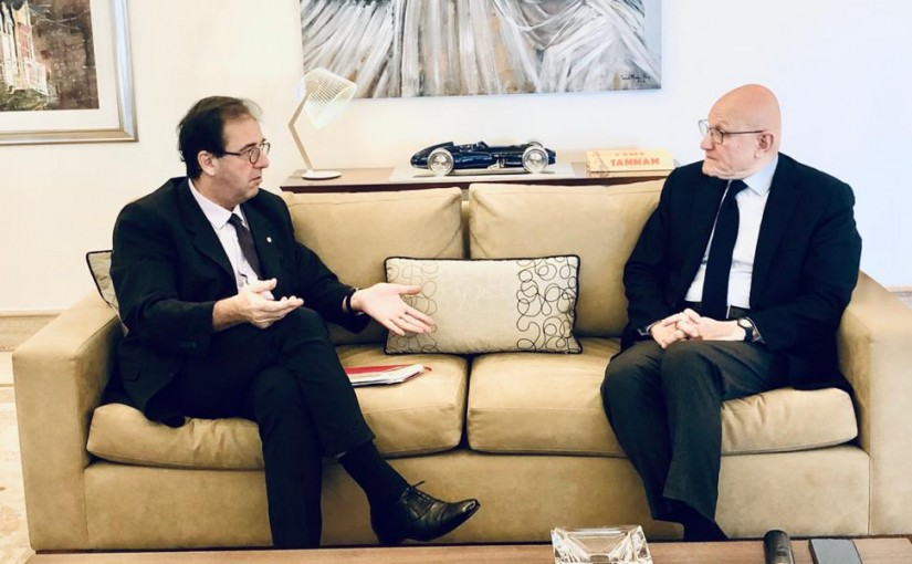Former Pr Minister Tammam Salam meets French Ambassador