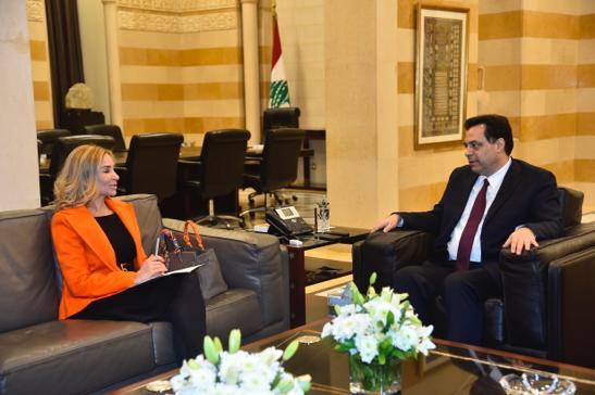 Pr Minister Hassan Diab meets Swiss Ambassador
