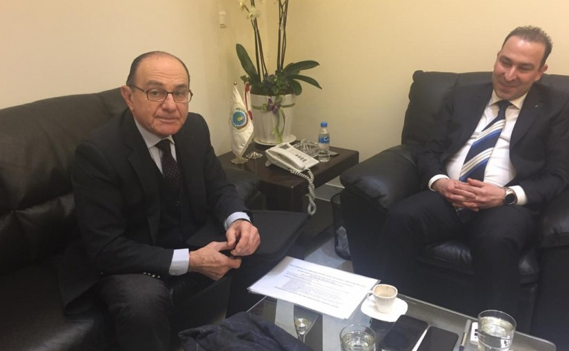 Minister Abass Morthada meets Dr Riad Saadeh