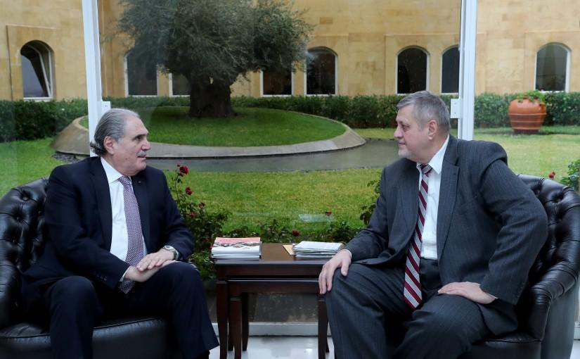 Minister Salim Jereysati meets Mr. Jan Kubis UN Special Coordinator