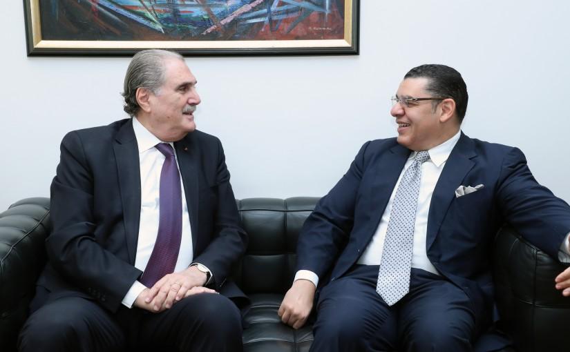 Minister Salim Jereysati meets Ambassador Dr. Yasser Alawi.
