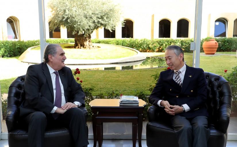 Minister Salim Jereysati meets AMBASSADOR Takeshi OKUBO (JAPAN)
