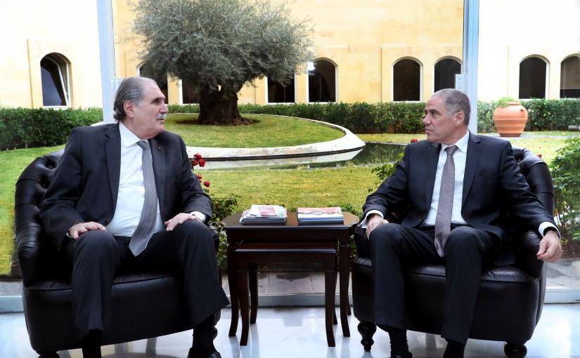 Minister Salim Jereysati meets Ambassador Ralph Tarraf.