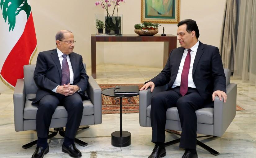 President Michel Aoun meets Prime minister designate Dr. Hassan Diab.