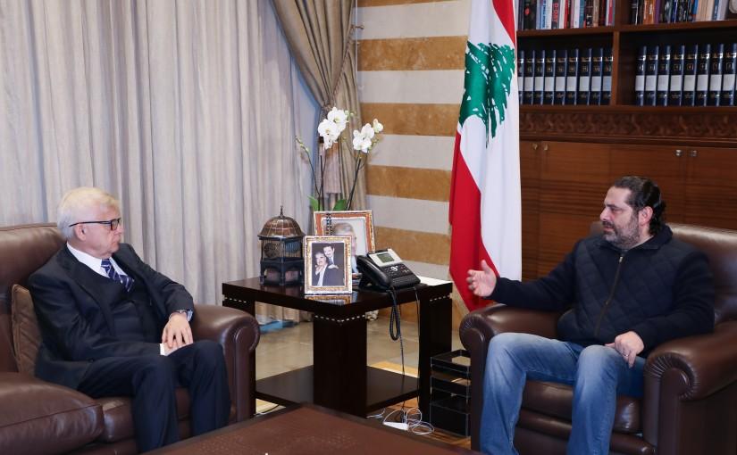 Pr Minister saad Hariri meets Russian Ambassador