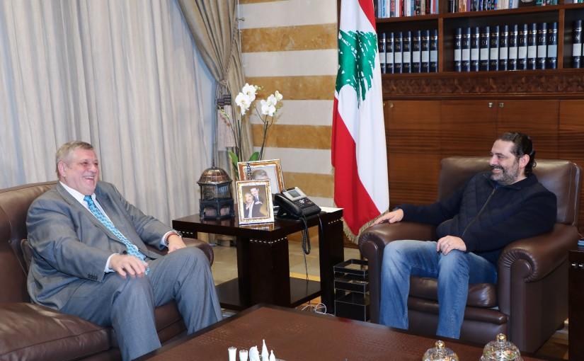 Pr Minister saad Hariri meets Mr Yan Kobish