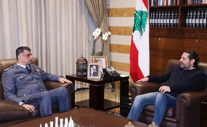 Pr Minister Saad Hariri meets General Imad Oussman