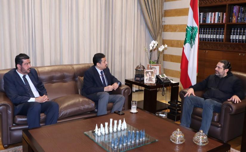 Pr Minister Saad Hariri meets Mr Nasser el Karyouni