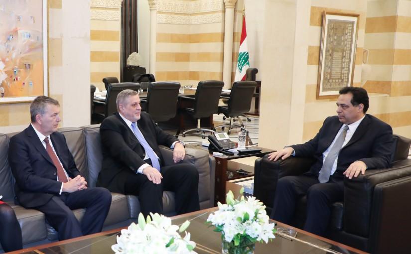 Pr Minister Hassan Diab meets Mr Yan Koubish