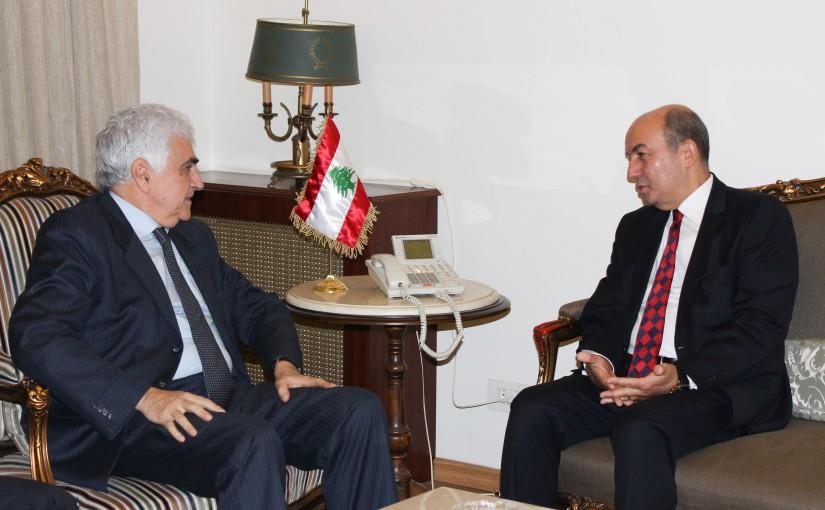 Minister Nassif Hiti meets Turkish Ambassador