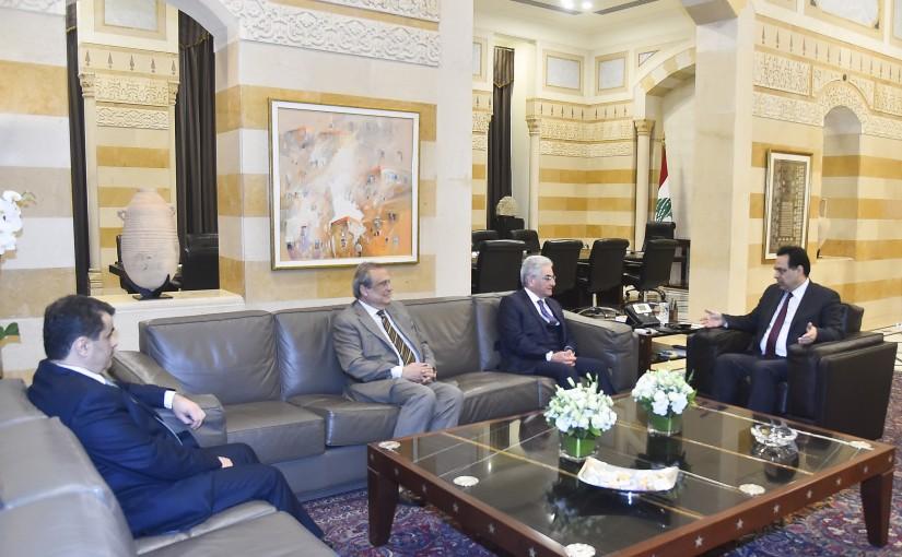 Pr Minister Hassan Diab meets Mr Selim Sfeir