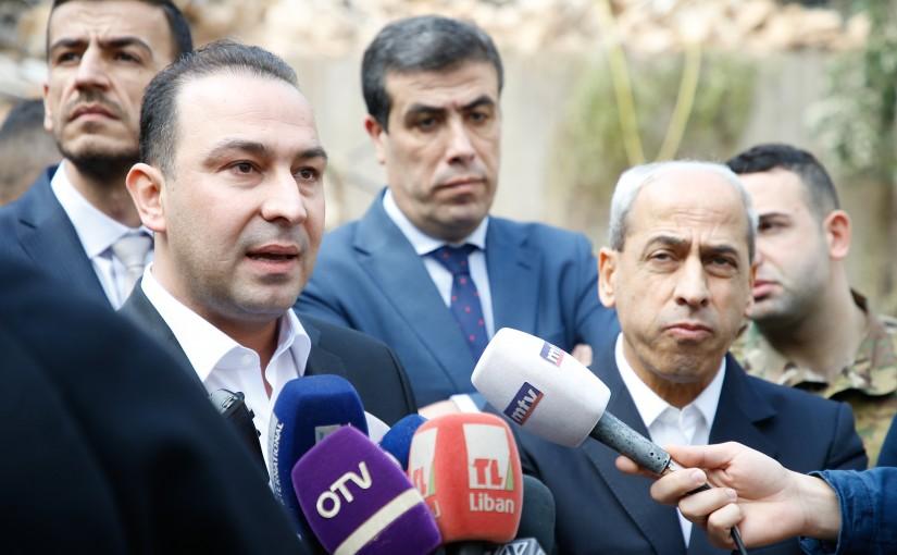 Minister Abass Mourtada Visits Achrafieh Building (Merhej Building)