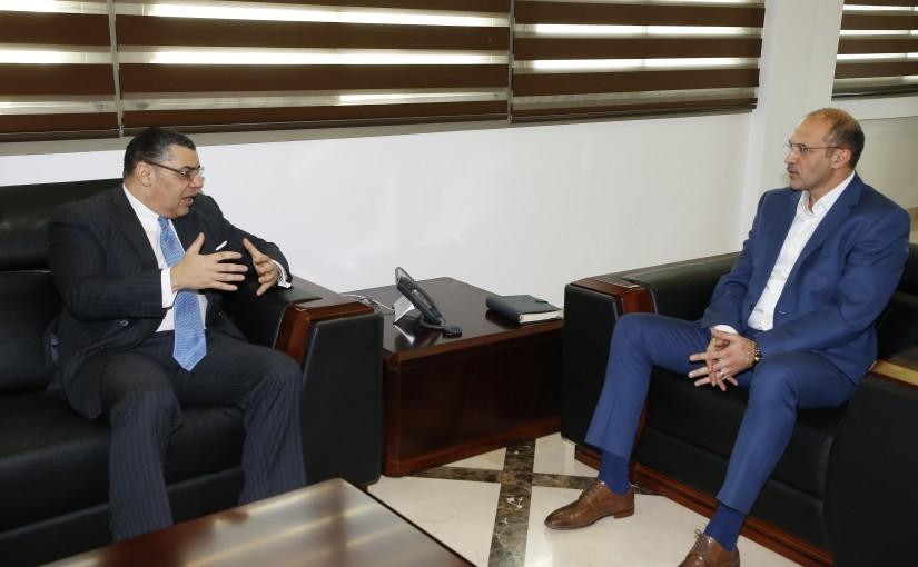 Minister Hamad Ali Hassan meets Egyptian Ambassador