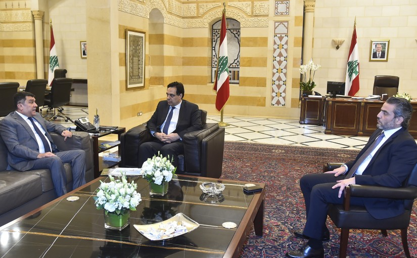 Pr Minister Hassan Diab meets Mr Mohamad el Hout