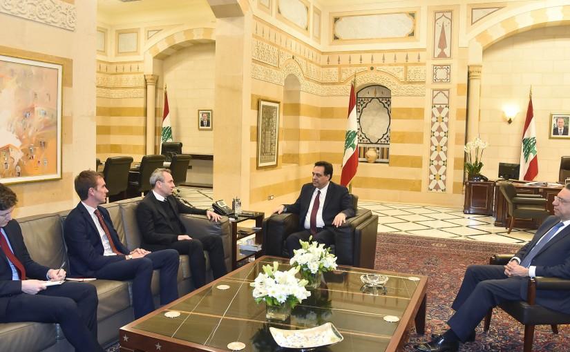 Pr Minister Haasan Diab meets British Ambassador