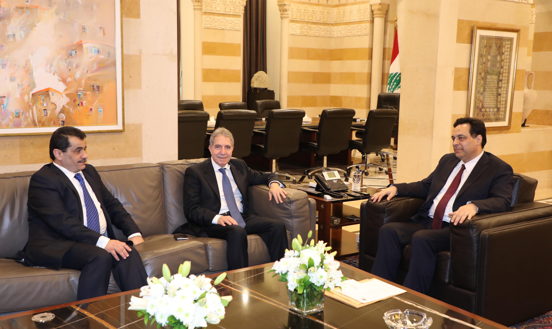 Pr Minister Haasan Diab meets Minister Ghazi Wazni 1