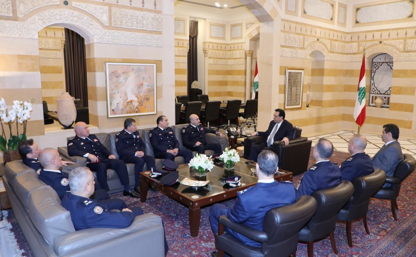 Pr Minister Haasan Diab meets a Delegation from Security State Forces