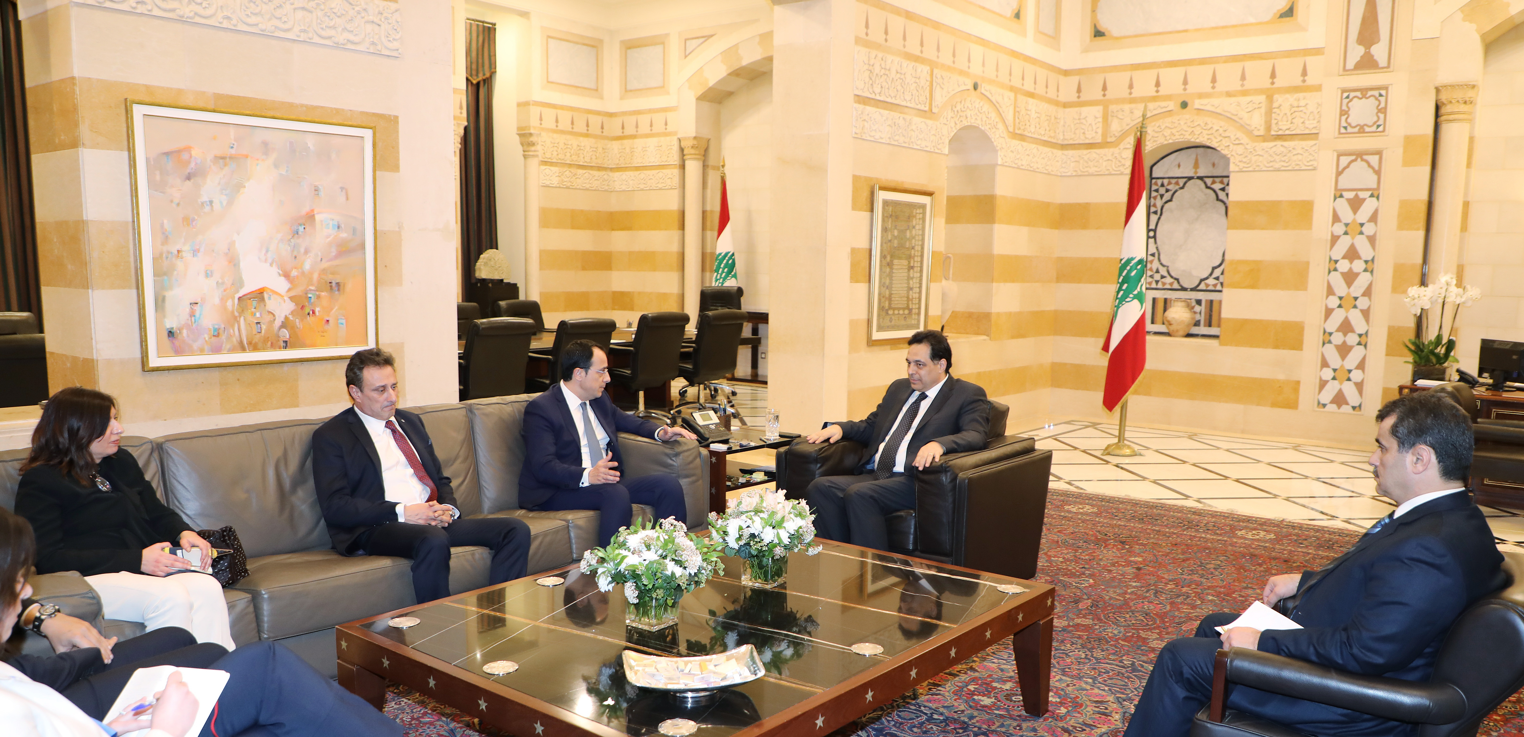 Pr Minister Hassan Daib meets  Cyprus Minister of Foreign Affairs 1