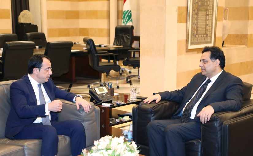 Pr Minister Hassan Daib meets  Cypriot Minister of Foreign Affairs