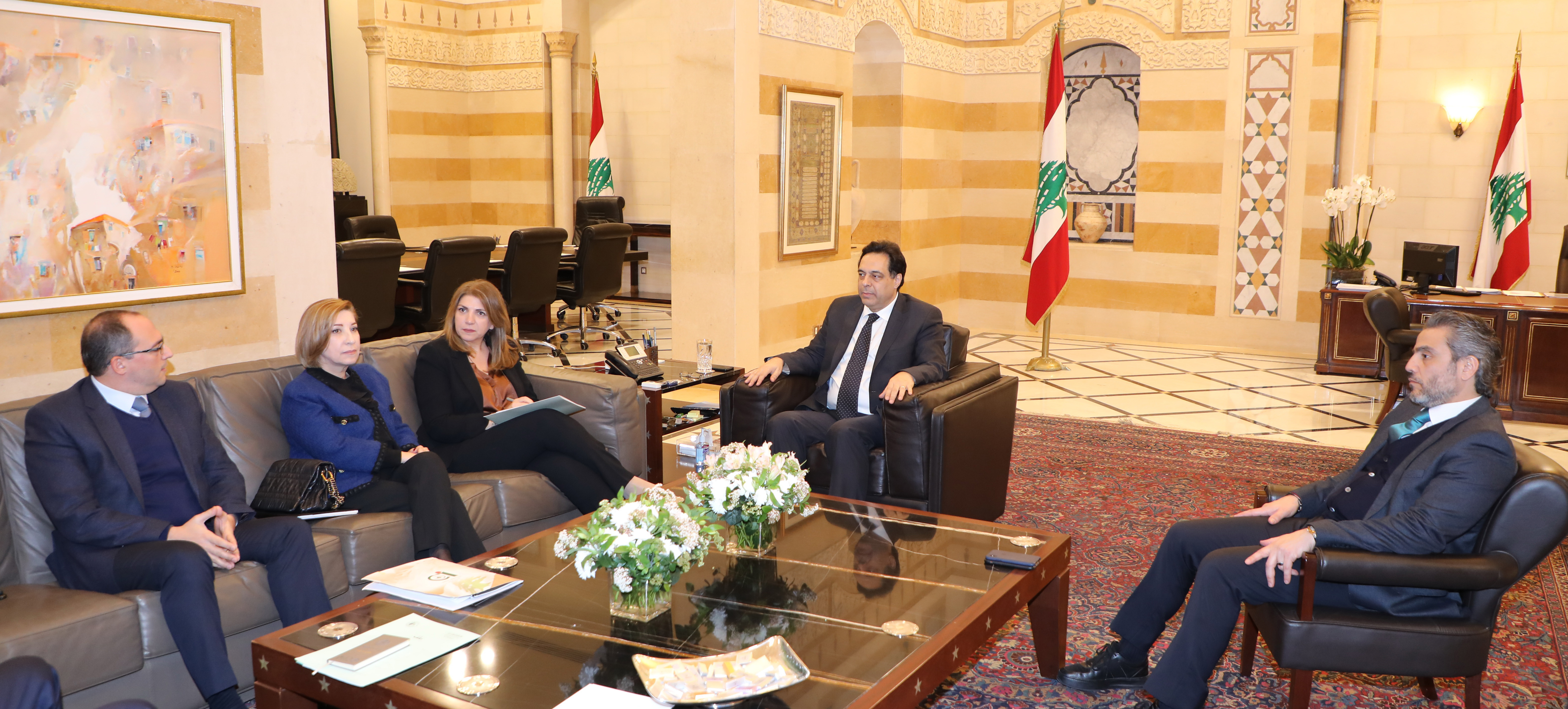 Pr Minister Hassan Daib meets  a Delegation from Lebanese Judges