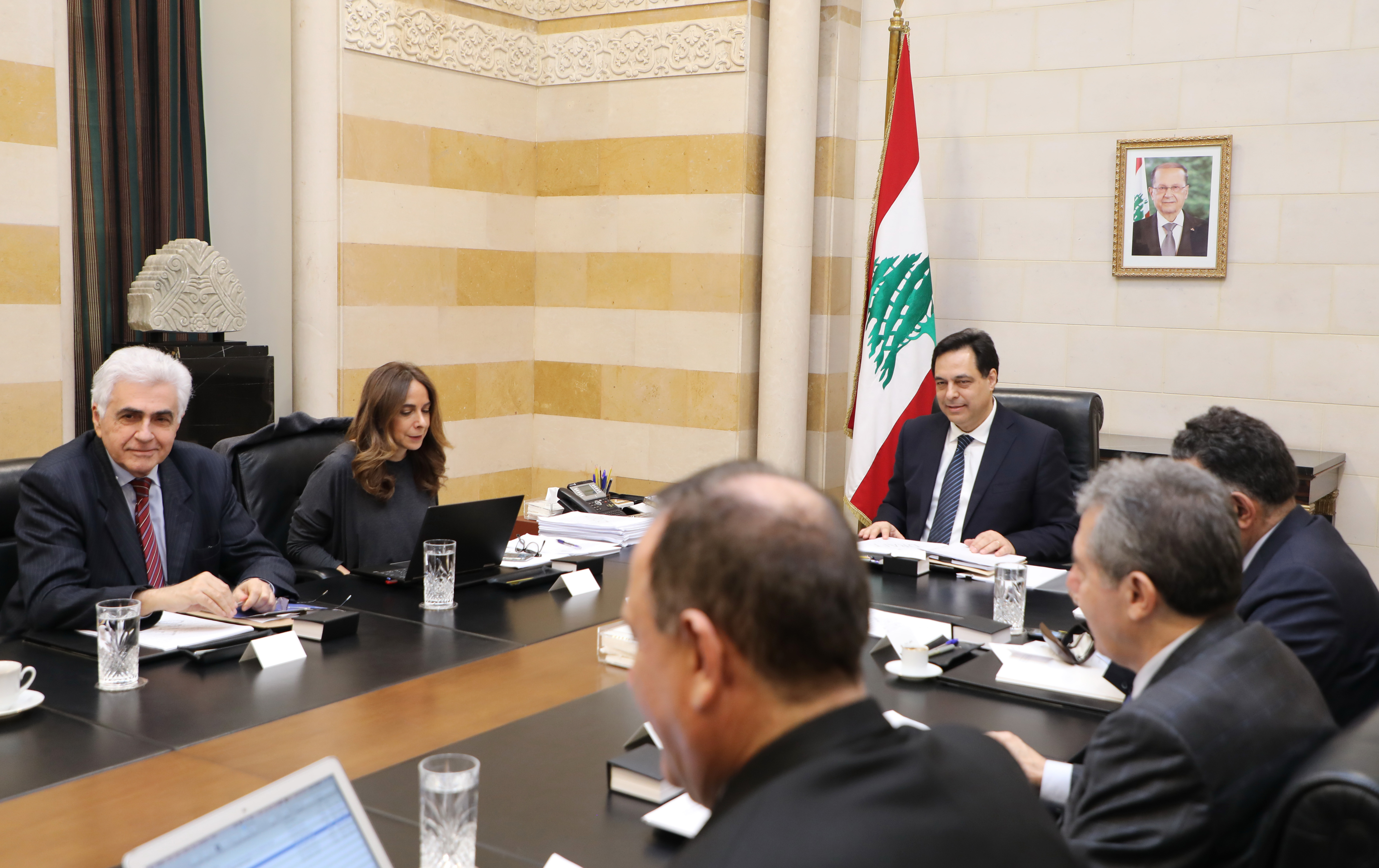 Pr Minister Hassan Diab Heading a Ministerial Council 1