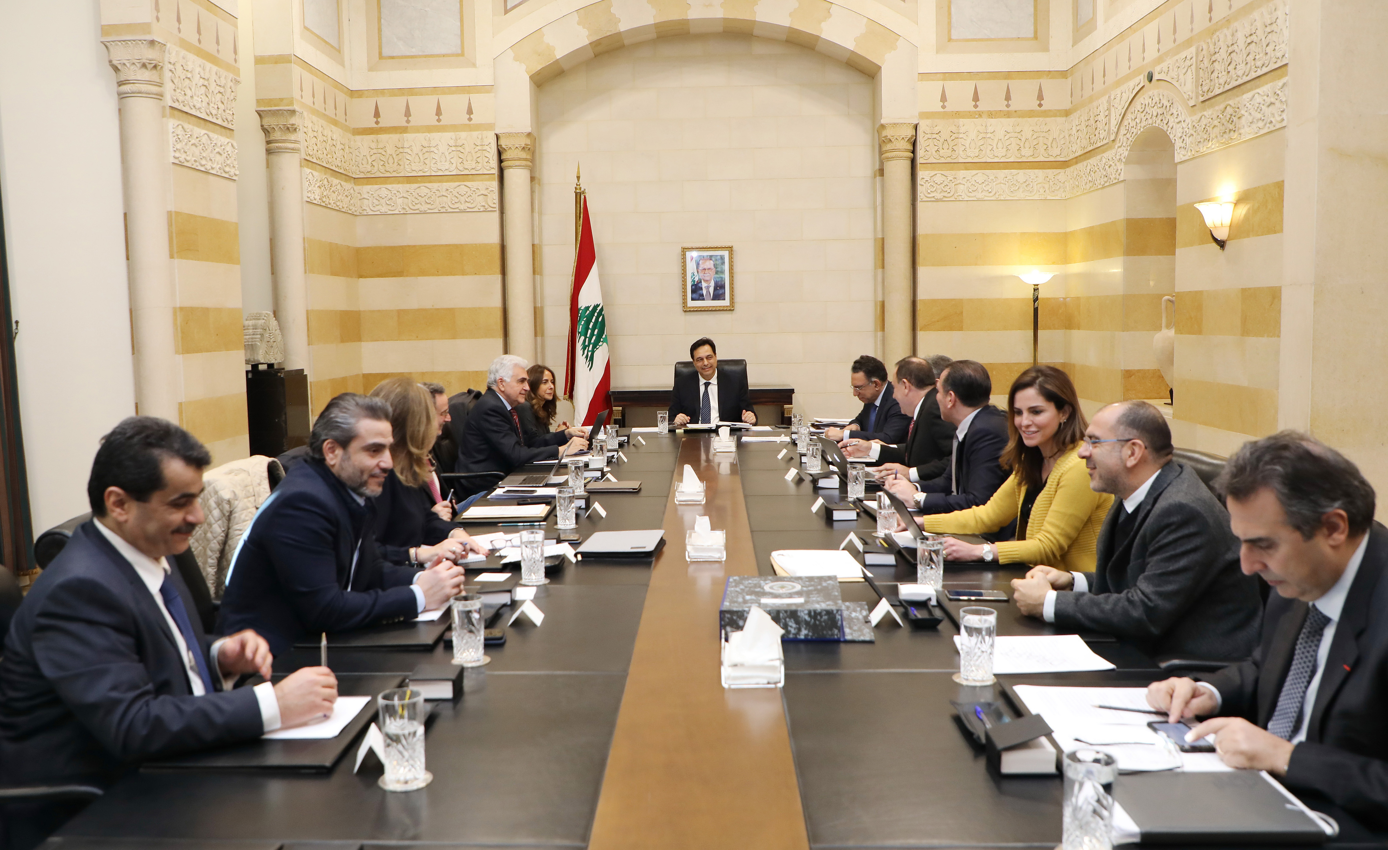Pr Minister Hassan Diab Heading a Ministerial Council 2