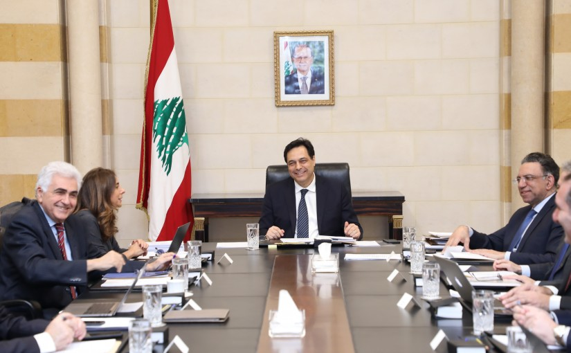 Pr Minister Hassan Diab Heading a Ministerial Council
