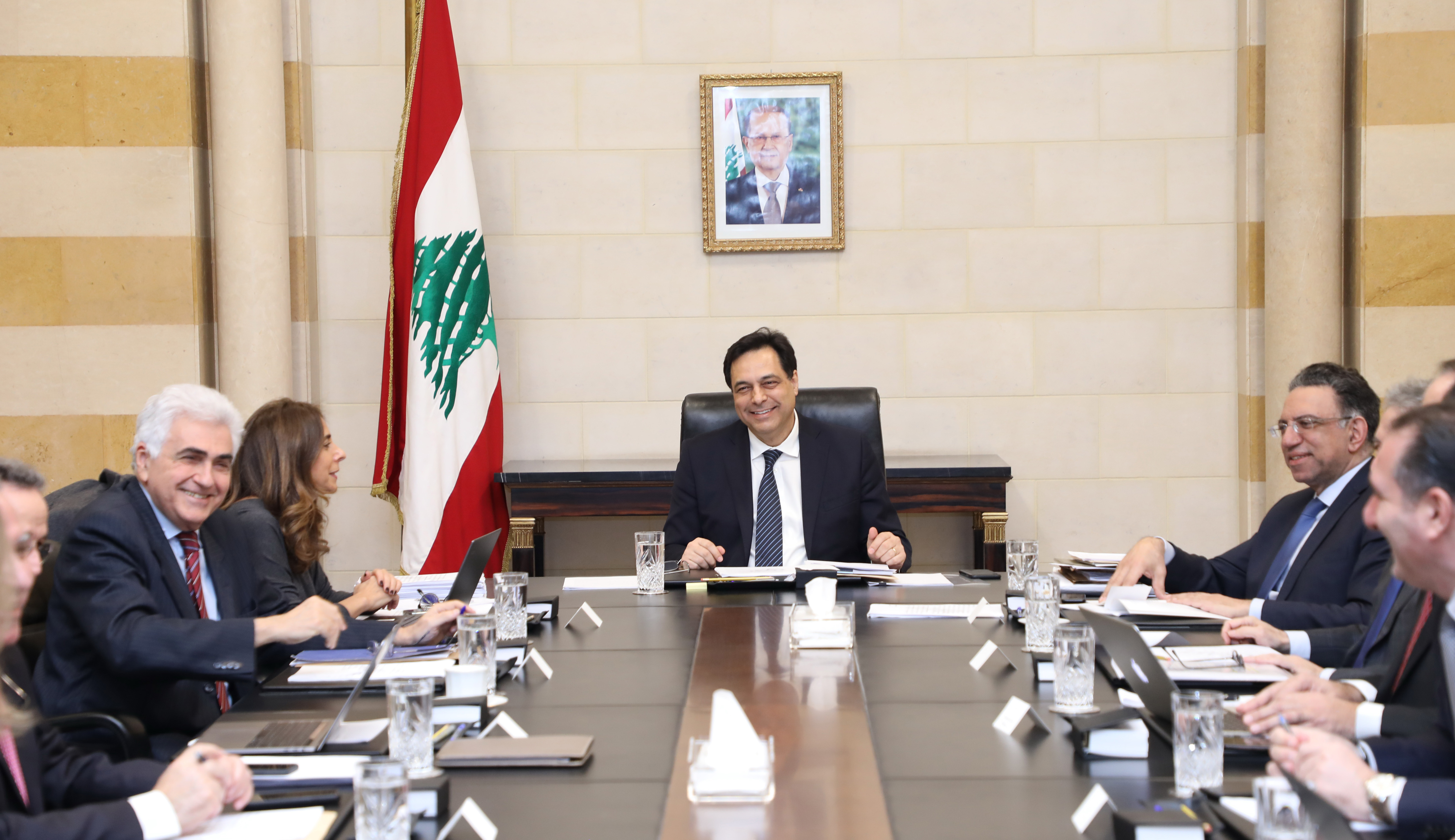 Pr Minister Hassan Diab Heading a Ministerial Council 3