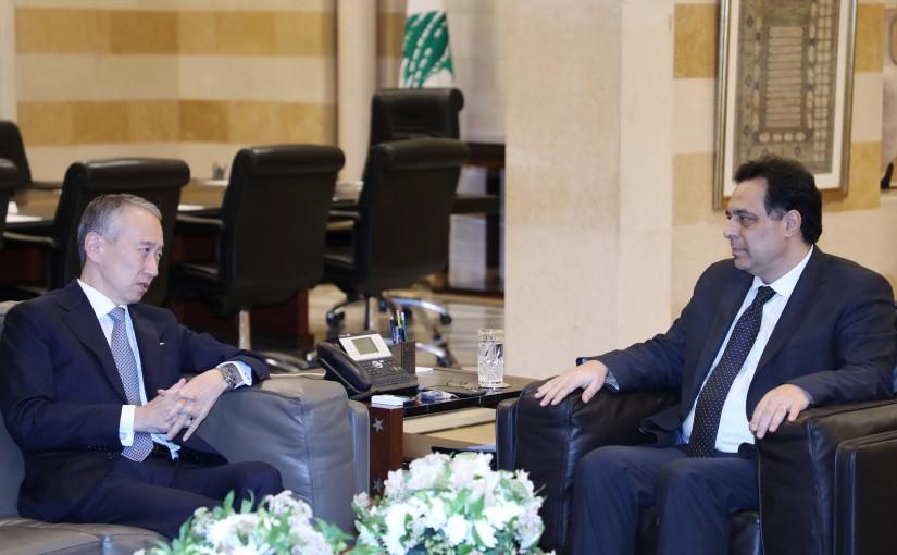 Pr Minister Hassan Diab meets Japanese Ambassador