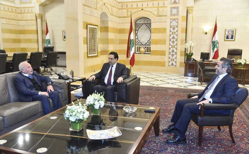 Pr Minister Hassan Diab meets Judge Ghassan Ouwaydat & Judge Mahmoud Makieh