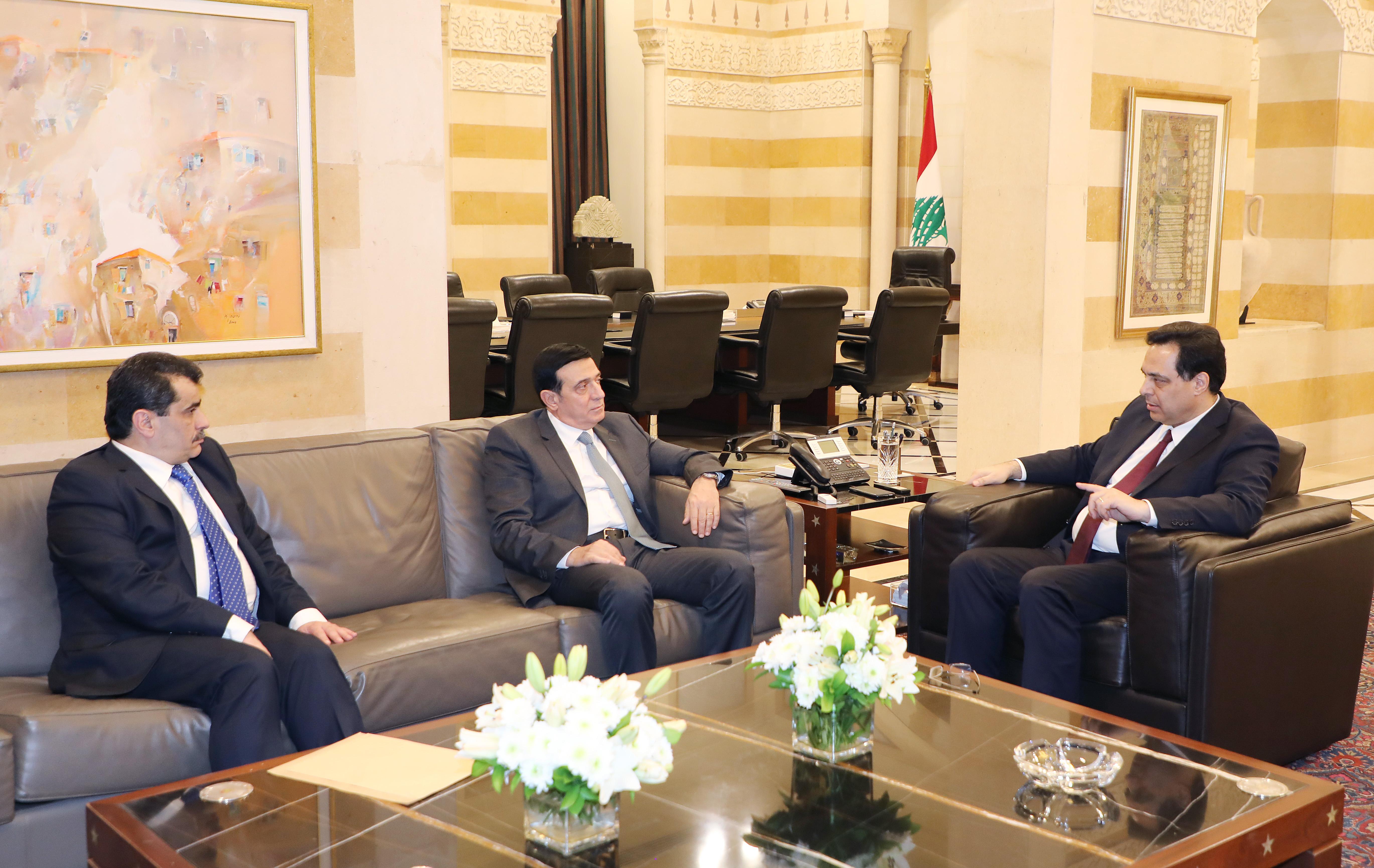 Pr Minister Hassan Diab meets Minister Michel Najjar 1