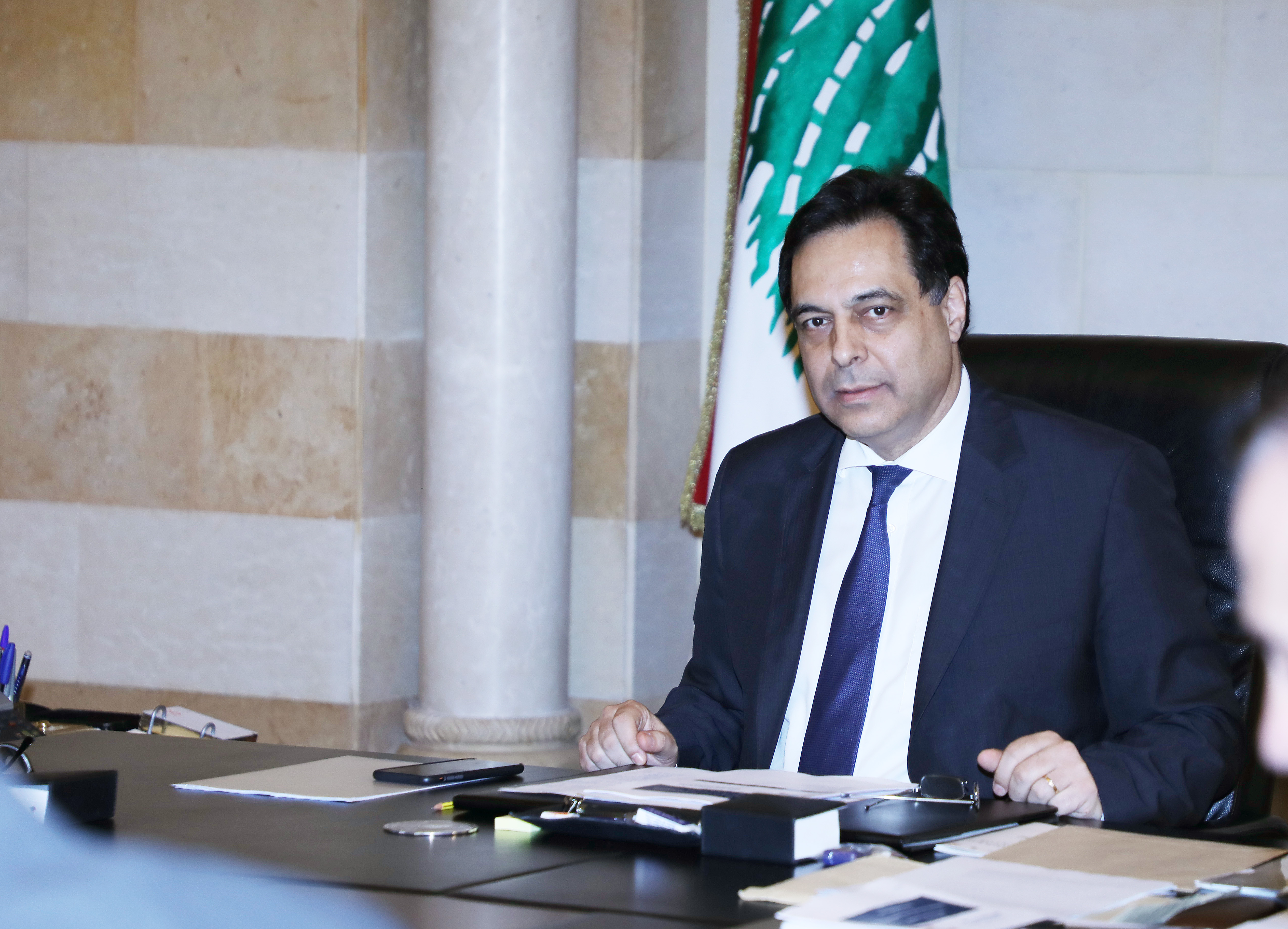 Pr Minister Hassan Diab meets a Delegation from Lebanese Banks 4