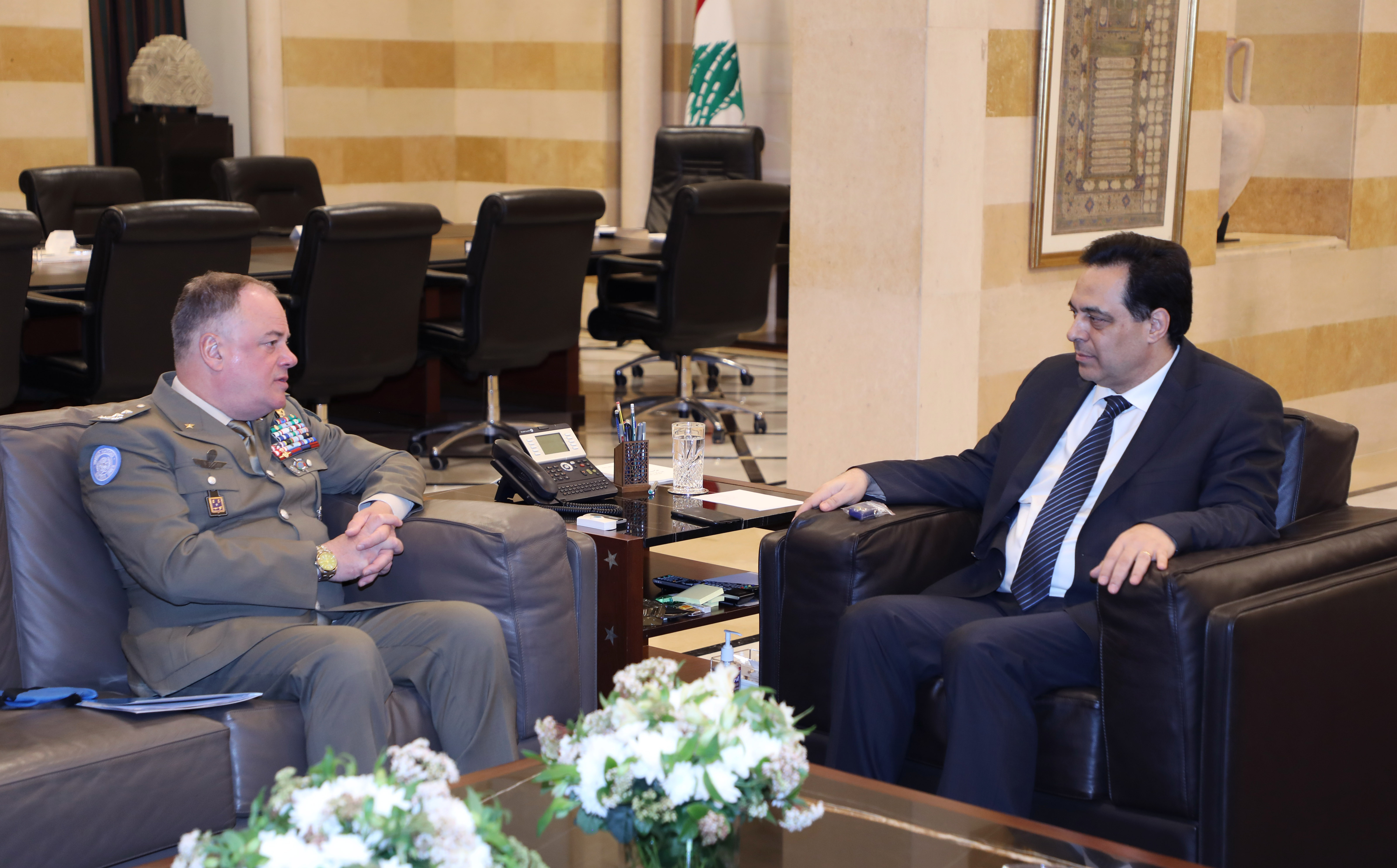 Pr Minister Hassan Diab meets a Delegation from UNIFIL