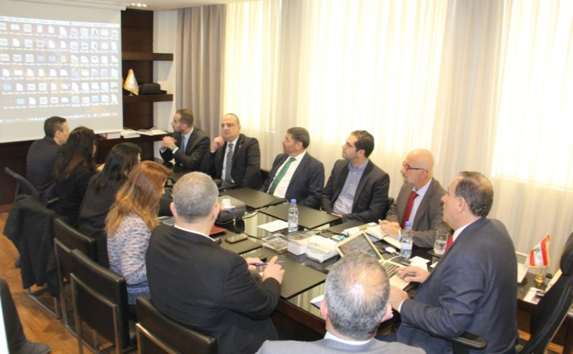 Minister Imad Habalah meets a Delegation from Shoues Syndicate
