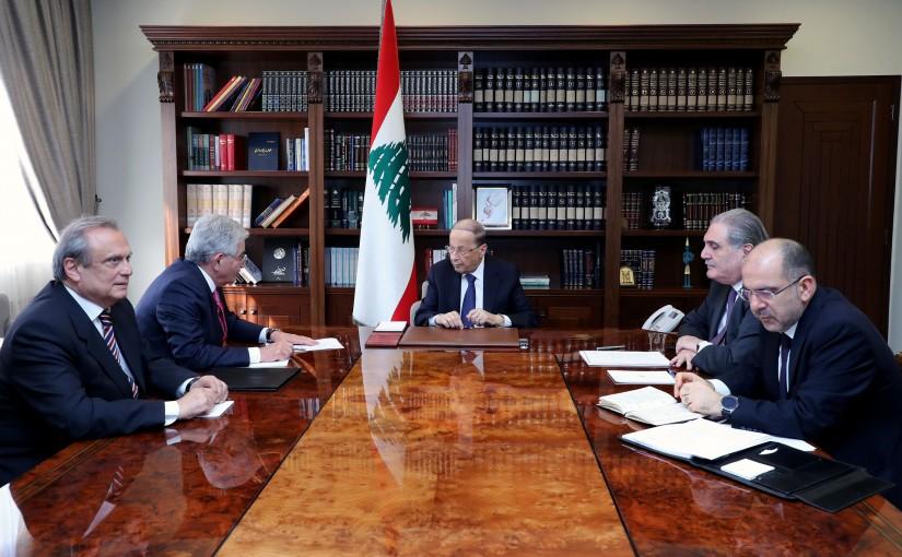 President Michel Aoun meets Dr. Salim Sfeir.