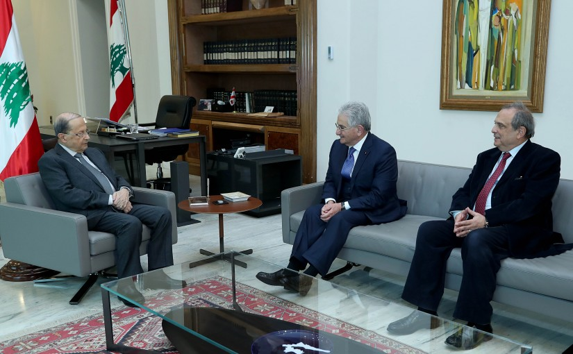 President Michel Aoun meets Dr.Salim Sfeir.