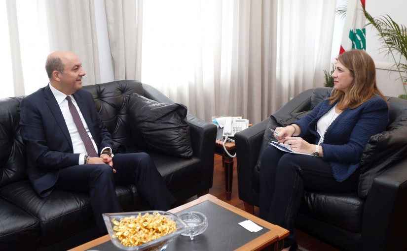Minister Marie Claude Najem meets