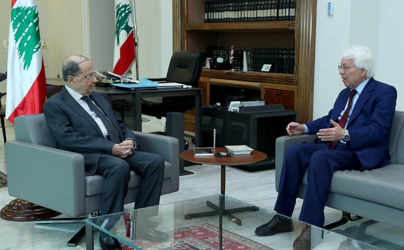 President Michel Aoun meets Former MP Ismail Sukkarieh.