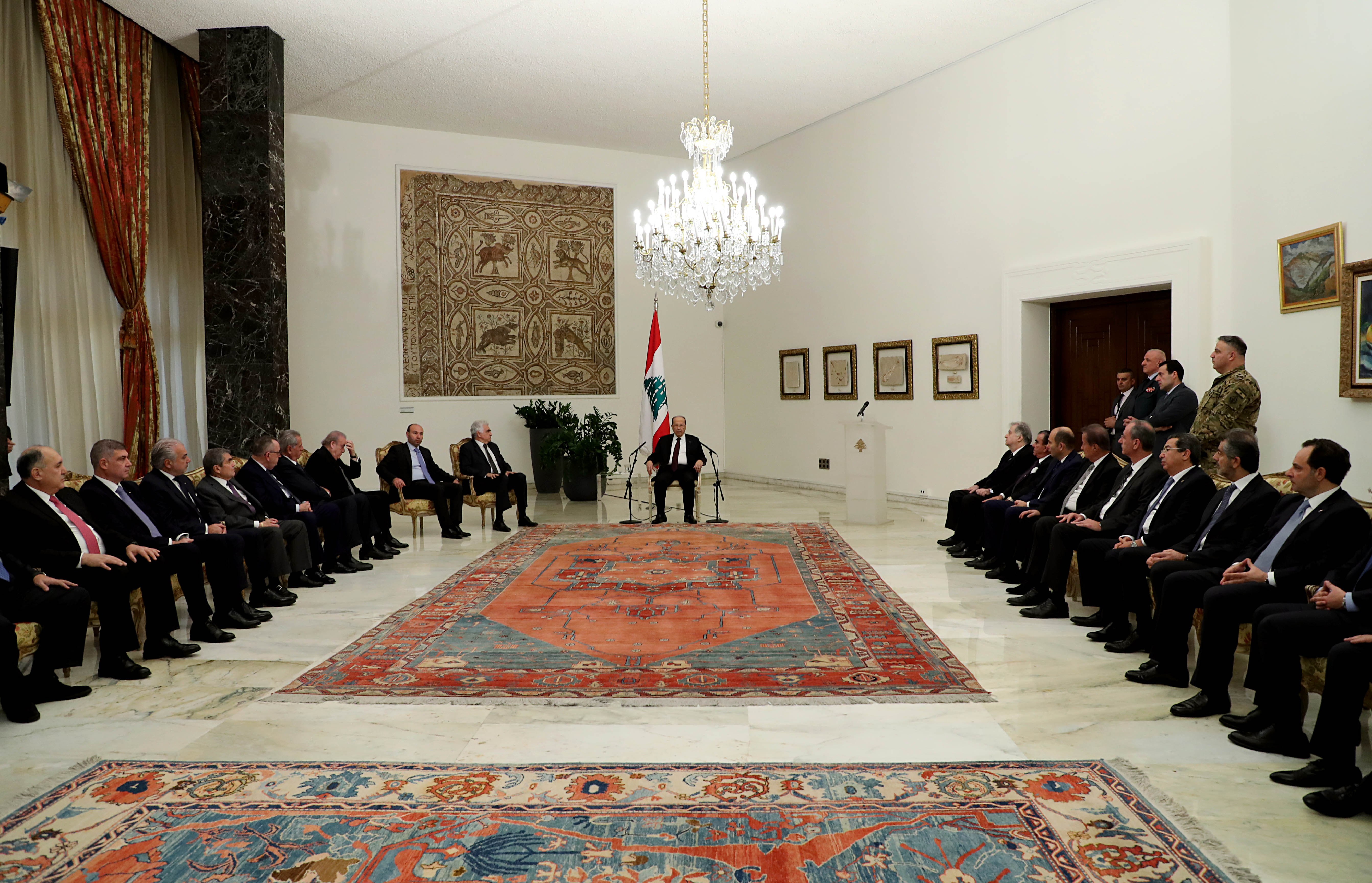 2 - members of the diplomatic corps accredited in Lebanon (3)