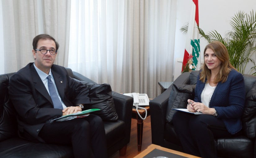 Minister Marie Claude Najem meets French Ambassador