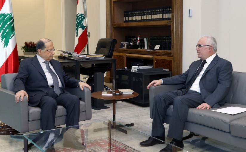 President Michel Aoun meets MP Michel Daher.