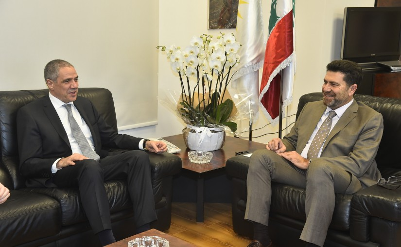 Minister Raymond Ghagar meets European Ambassador